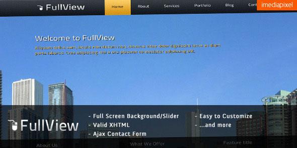 fullView - Fullscreen Background Slider Template