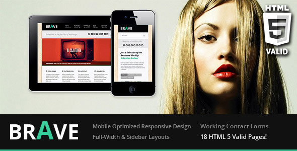 Brave Responsive Business Template