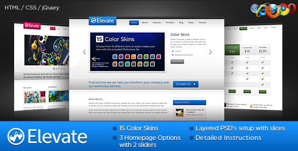 Elevate: Business - Portfolio - SaaS HTML Template