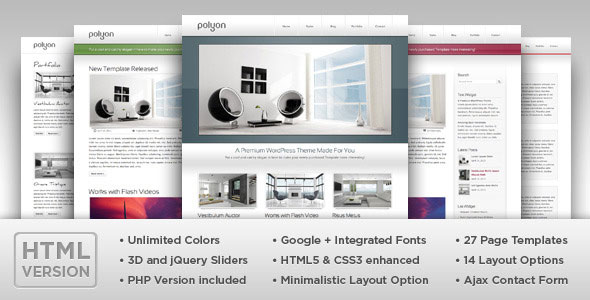 Polyon - Modern and Futuristic HTML Template