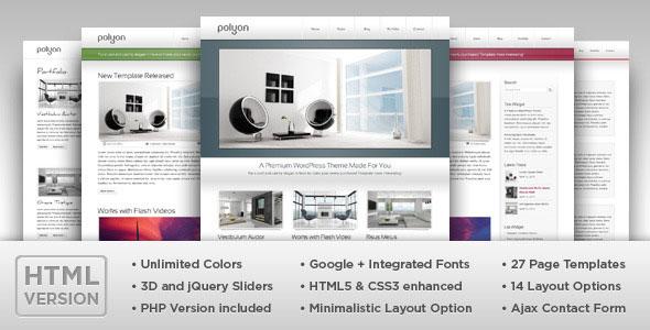 Polyon - Modern and Futuristic HTML Template