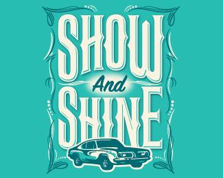 Show and Shine car show logo