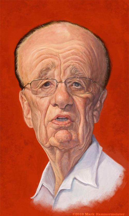 Rupert Murdoch by Mark Hammermeister
