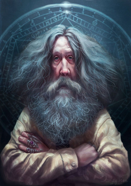 Alan Moore by Diego Maia
