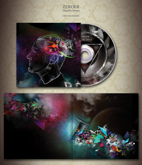 40 Outstanding CDAlbum Cover Art Designs – Psd Album Cover Template