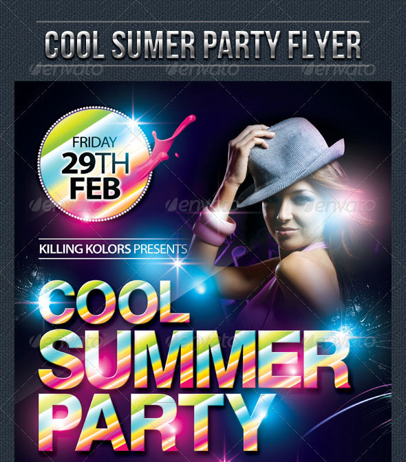 30 Vibrant Colorful Party Flyer Templates Web Graphic Design