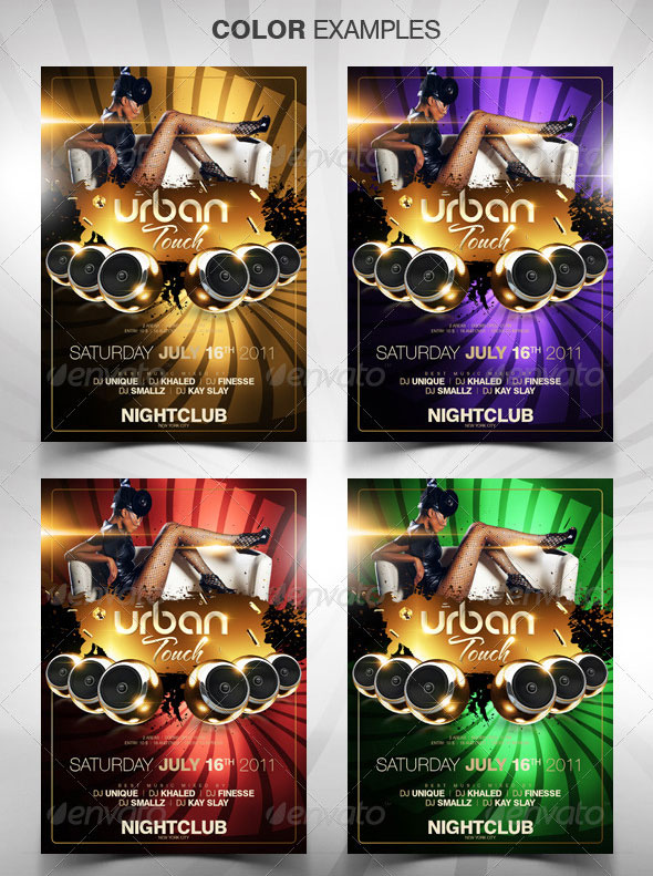 Urban Touch Party Flyer Template