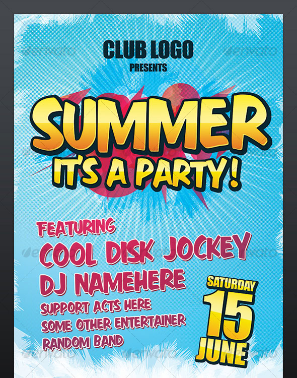 Summer Party Nightclub Poster