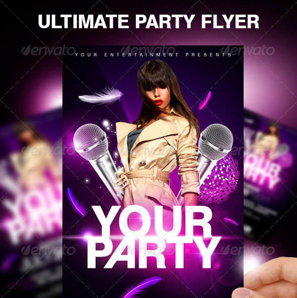 30 Vibrant & Colorful Party Flyer Templates | Web & Graphic Design ...