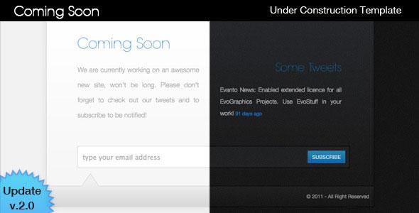 45 best coming soon website templates web graphic design bashooka. Black Bedroom Furniture Sets. Home Design Ideas