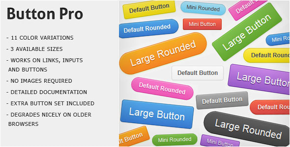Button Pro - CSS3 Buttons