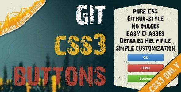 Git CSS3 Buttons