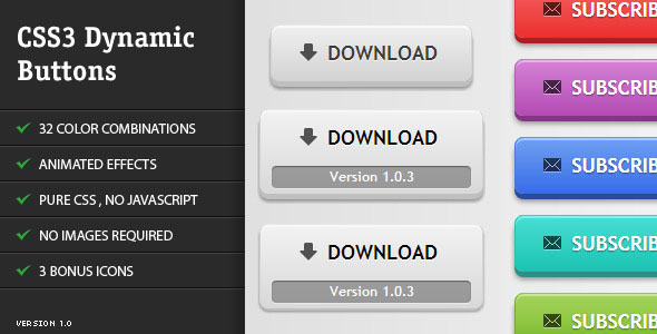 CSS3 Dynamic Buttons