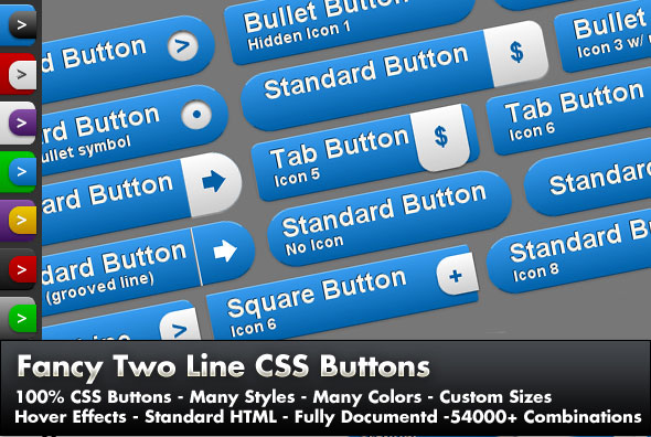 Fancy 2 Line CSS Buttons
