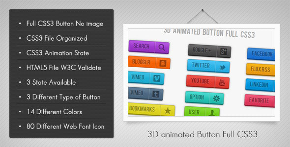 3D Animated Button
