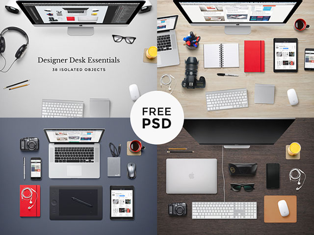 27 free psd mock up templates web amp graphic design 43 cool creative desk designs digsdigs