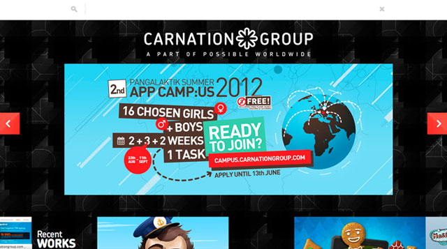 CarnationGroup site