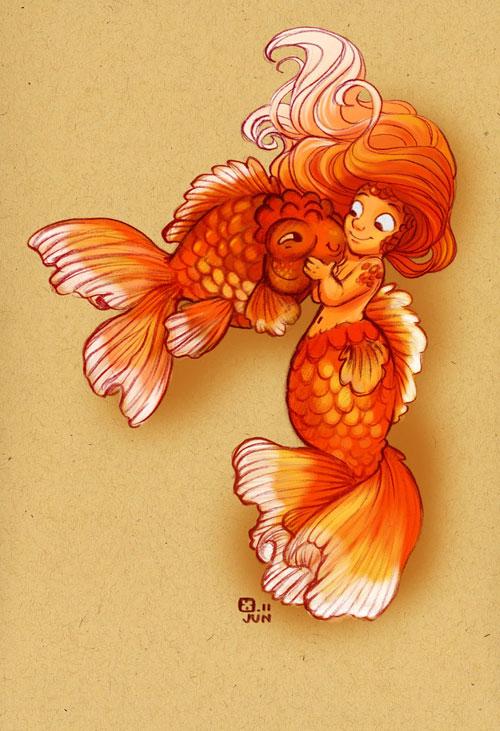Dinky Goldfish Girl
