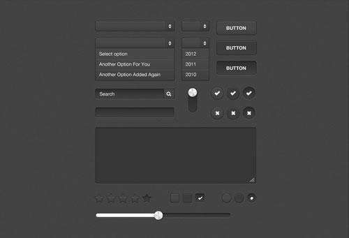 Dark Form UI Kit