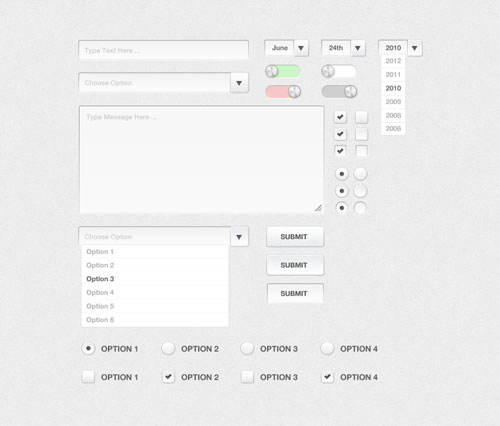 Complete Silver Form UI Kit