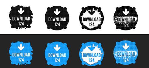 Splatter Download Buttons