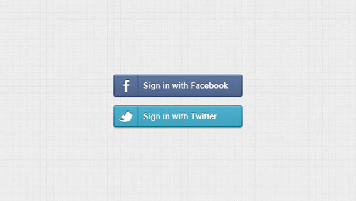 Sign in With Facebook & Twitter