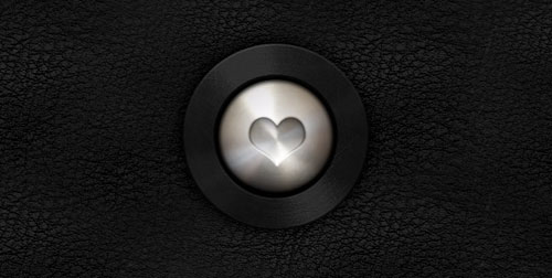 Stainless Steel Love Button