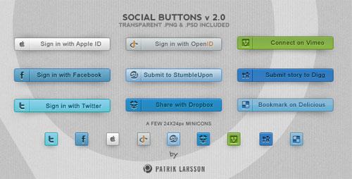 Social Buttons v 2.0