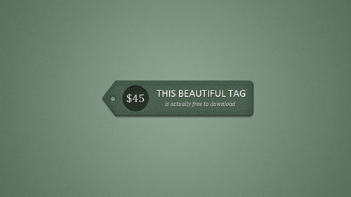 Detailed Price Tag PSD