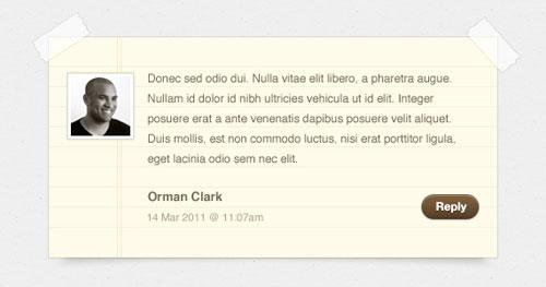 Notepaper Blog Comments