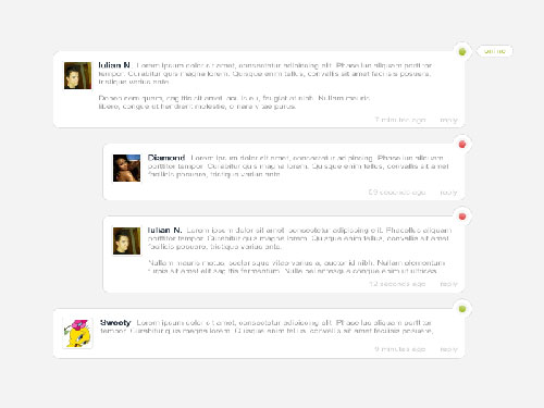 Community Comment Design Psd