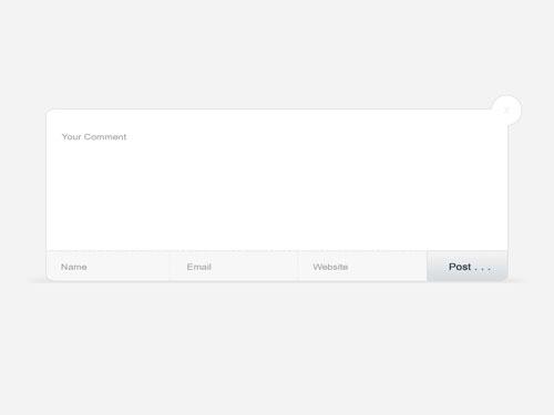 Psd Graphics, Pop-up Comment Form Psd