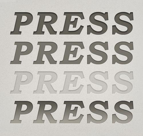 Letterpress Styles