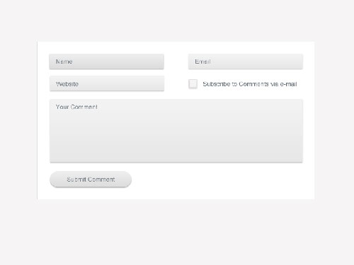 Fresh Comment Form Design (Psd)