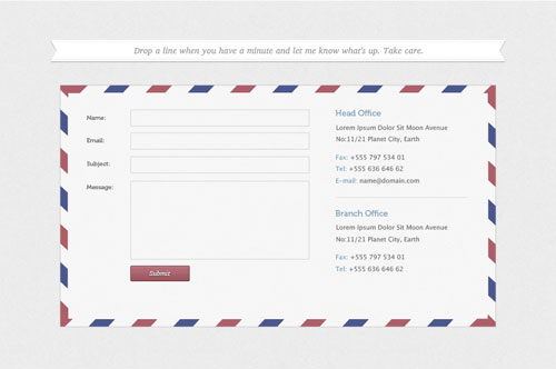 Free Contact Form PSD