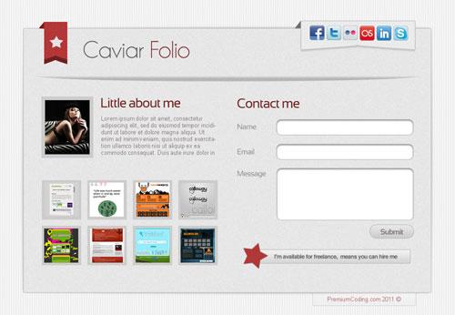 Caviar Folio - Landing Page