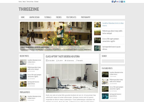 Free Magazine Template PSD – Threezine