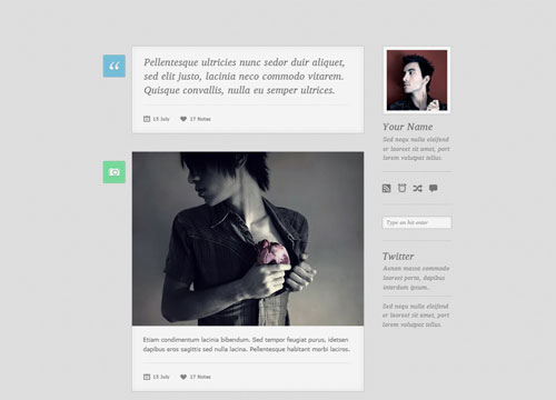 Free Tumblr Theme PSD – Lambda