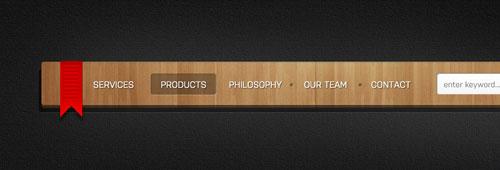 Wooden menu (PSD Freebie)