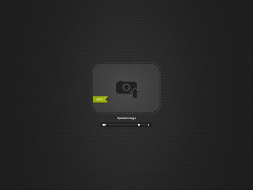 Drop Image Uploader Free PSD