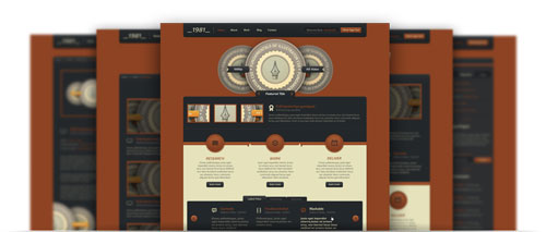 DigitalRust Website PSD