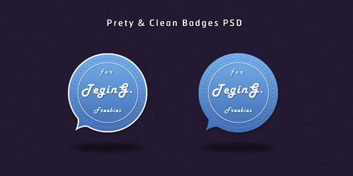 Pretty & Clean Badges