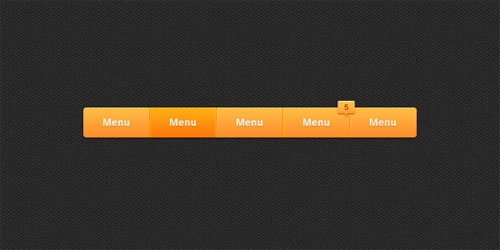 Sleek Navigation Bar PSD