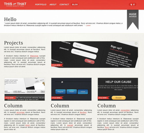 THISandTHAT: Vintage Website Template