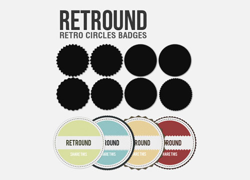 Retround – Retro Circles Badges
