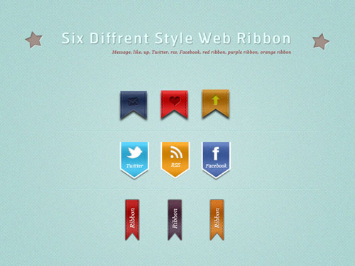 Stylish Web Ribbons