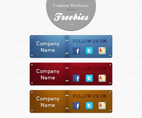 Company Follow Us PSD Freebies