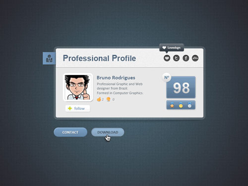 Web Card Profile