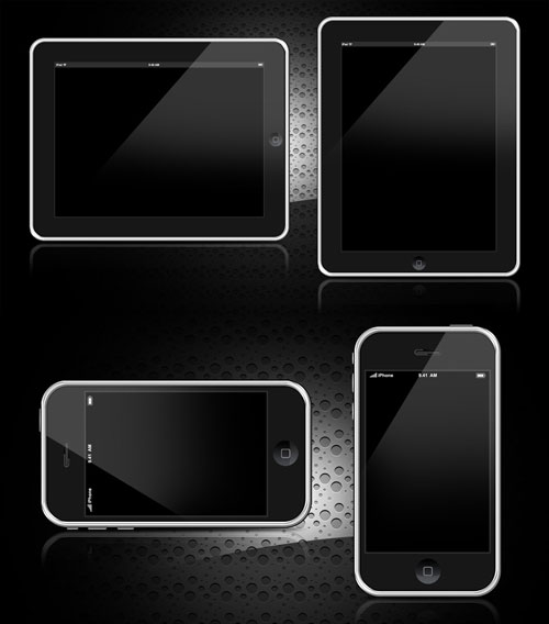 iPhone & iPad PSD templates