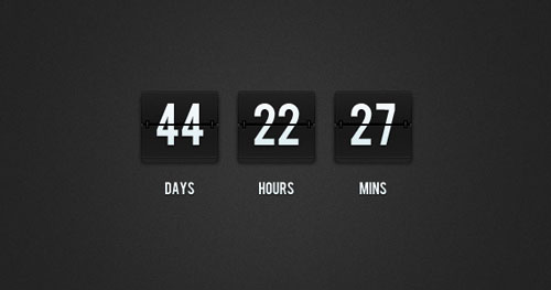 Flip Clock Countdown PSD